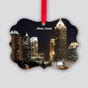 Atlanta, Georgia at Night Picture Ornament